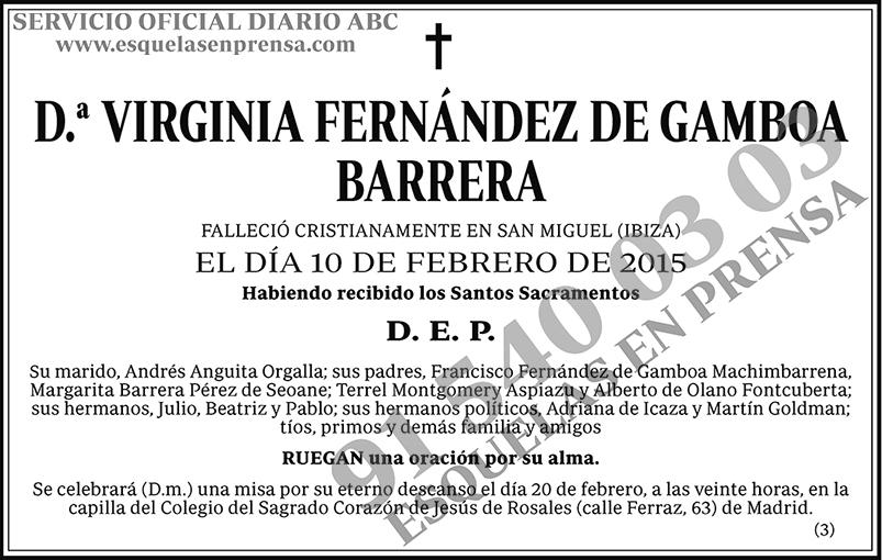 Virginia Fernández de Gamboa Barrera